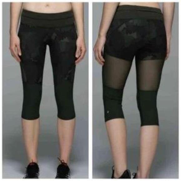 4a67bb2d8bff lululemon athletica Pants - Lululemon Training Tough Crop Camo